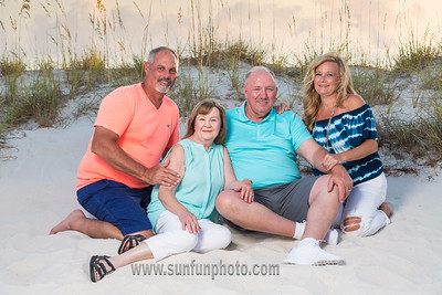 The Reynolds Family Sunset Photography on Panama City Beach