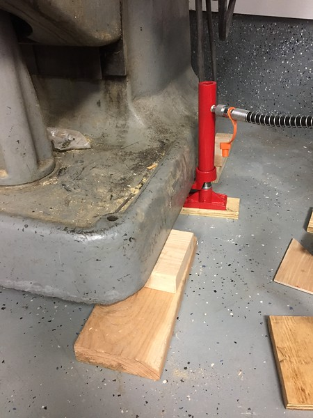 Switch shims with thicker materials as the height increases