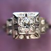 0.58ctw Old European Cut Diamond Art Deco Illusion Ring 5