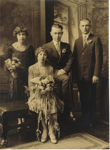 Herbert & Ethel (Deets) Herdrich Wedding