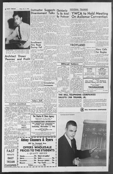 Daily Trojan, Vol. 54, No. 29, November 02, 1962