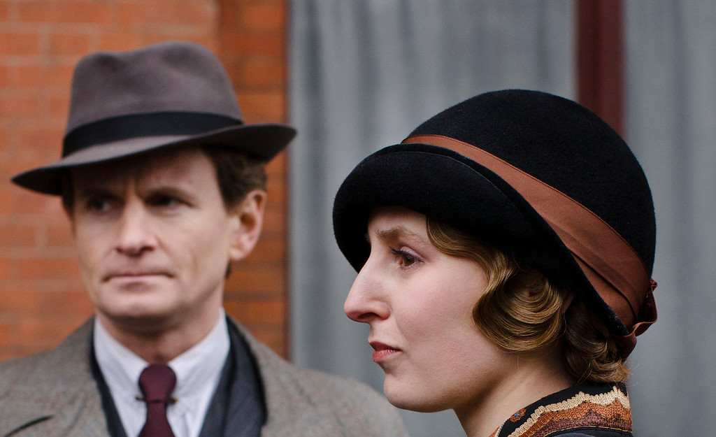 """. Charles Edwards as Michael Gregson and Laura Carmichael as Lady Edith. The fourth season of \""""Downton Abbey\"""", set in 1922, sees the return of our much loved characters. As they face new challenges, the Crawley family and the servants who work for them remain inseparably interlinked.   (Photo by Nick Briggs/Carnival Films & Television Limited 2013 for MASTERPIECE)"""