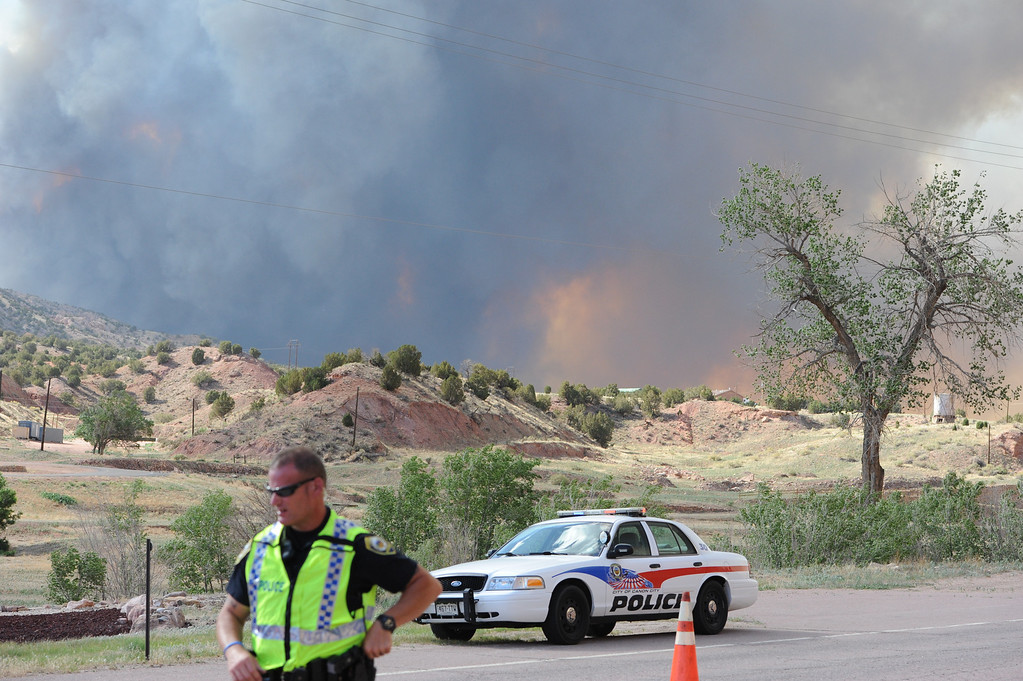 . A view of the fire from Pueblo Community College Fremont Campus. Brandon Hopper/Daily Record