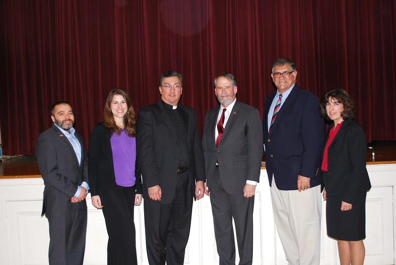 Ambassador Evans with Fr. Vasken A. Kouzouian and Parish Council members (from left to right), Jeffrey Hintlian, Ani Ross Grubb, Daniel K. Dorian, Jr., and Susan K. Derderian, Esq.