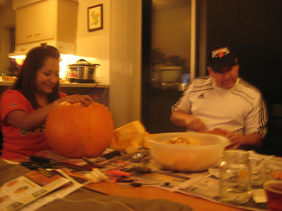 Halloween Pumpkin Carving with Anali Andrew and David 2012