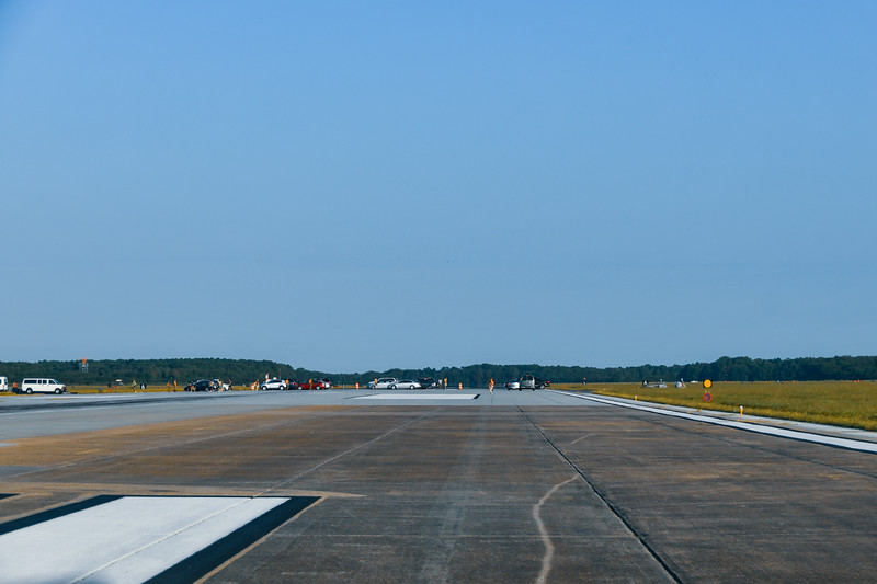 Parking on Runway 32L