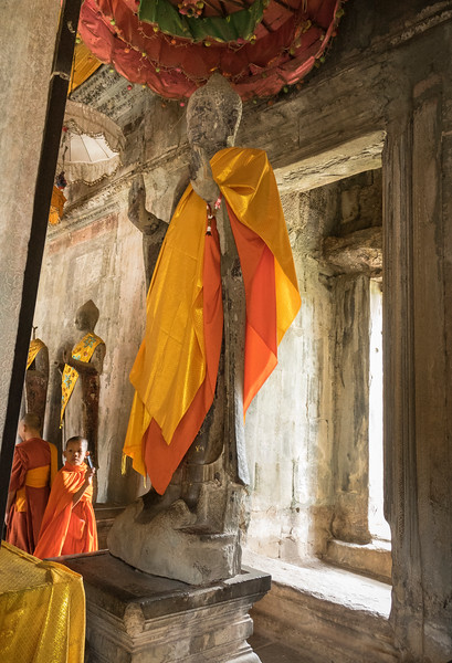 Youngest monk at  Angkor Wat Temple