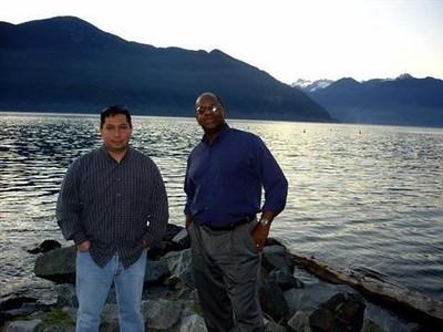 Gregory Burrus, TechOSS, Daniel Pinada stop  way to the ski resort, in Whistler BC, via the Sea to Sky Highway.jpg