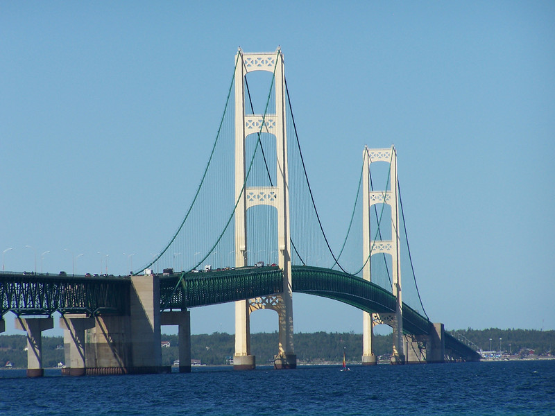 In 1957, the illuminated towers of the new Mackinac Bridge made a lighthouse unnecessary.