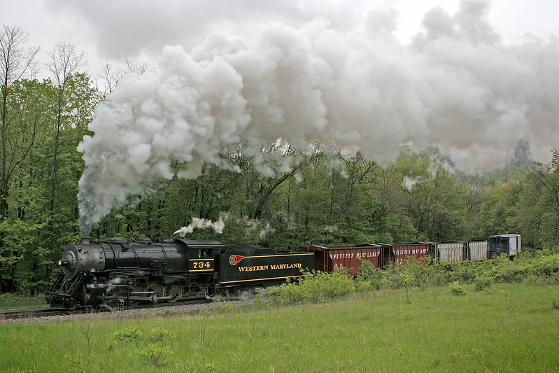 WMSR photo freight 5-12-08 Western Maryland Scenic Railroad
