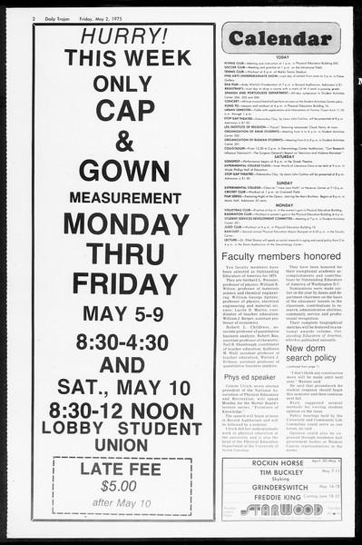 Daily Trojan, Vol. 67, No. 120, May 02, 1975
