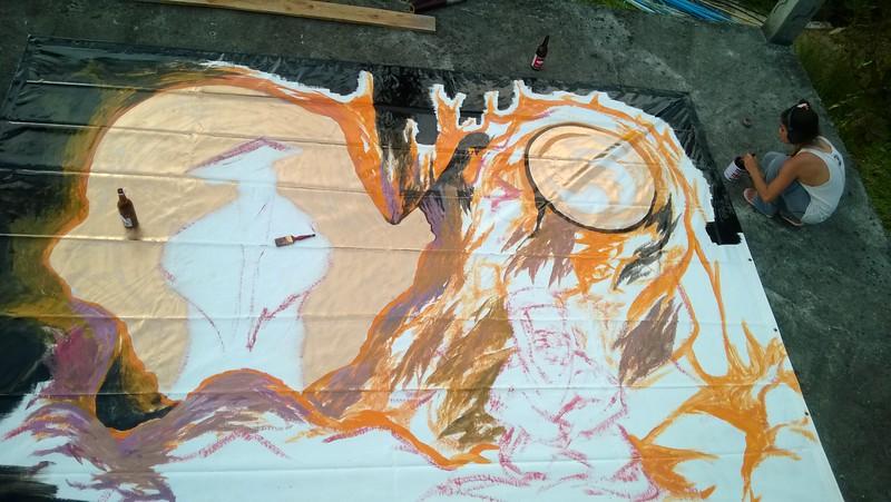Daruma self-painting