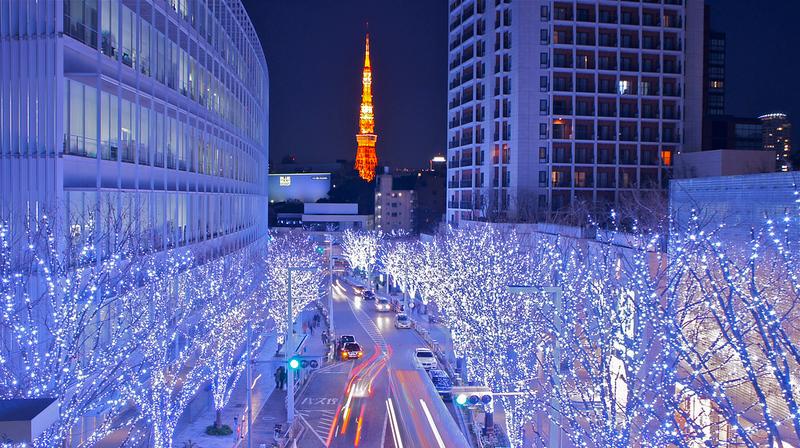 Tokyo Tower and Roppongi Christmas illumination