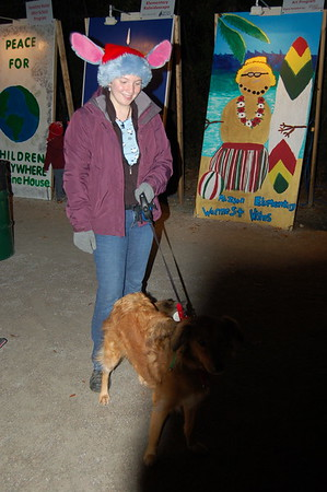 Dog Mascot Zoey w/ Santa