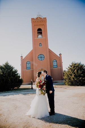 Mr & Mrs Outside Church