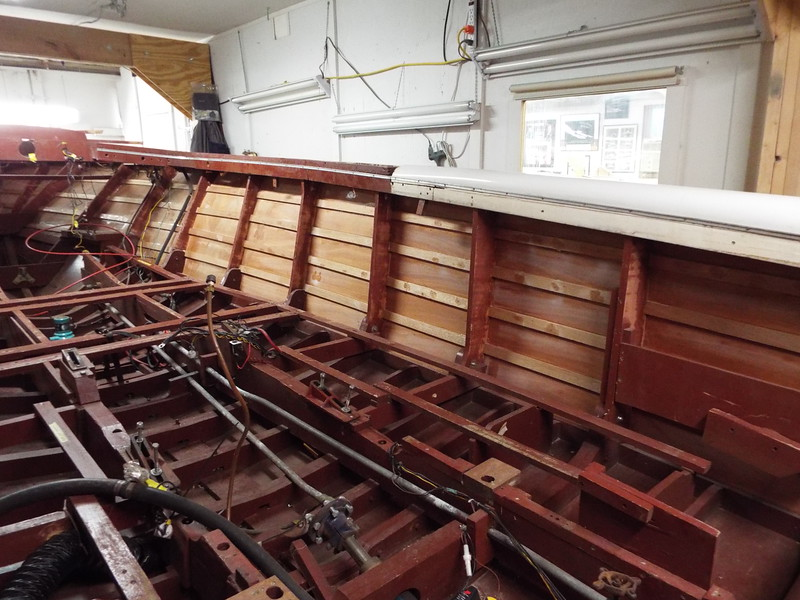 Inside view of the starboard side looking forward.
