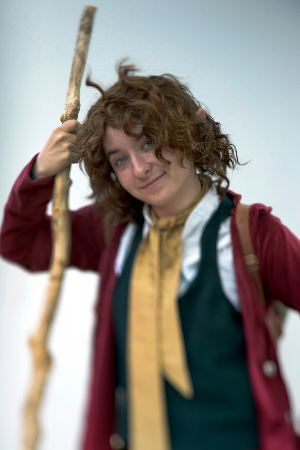 . Kay Sines 19-years-old poses as Bilbo Baggins as she attends the Denver Comic Con June 2, 2013 at the Colorado Convention Center. The Convention brought in more than 45,000 for the three day weekend. (Photo By John Leyba/The Denver Post)