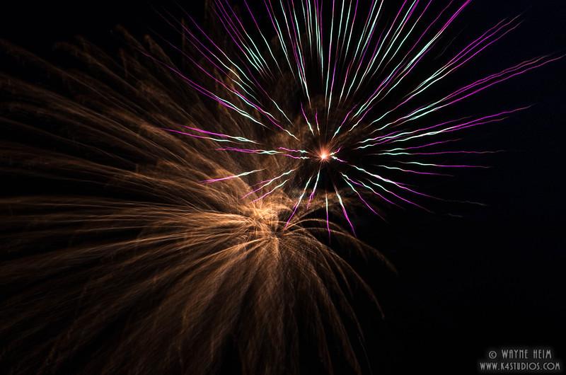 Fireworks 3    Photography by Wayne Heim