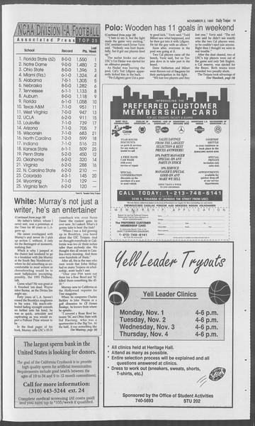 Daily Trojan, Vol. 121, No. 44, November 02, 1993