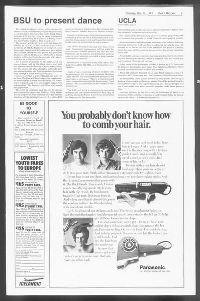 Daily Trojan, Vol. 64, No. 121, May 11, 1972