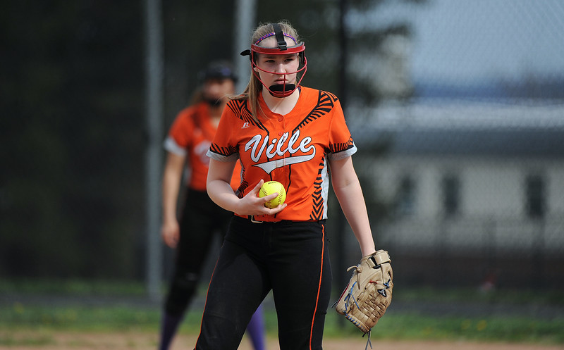 5/3/2018 Mike Orazzi   Staff Terryville's Tiffany Pires (10) during Thursday's softball game with Wamogo in Plymouth.
