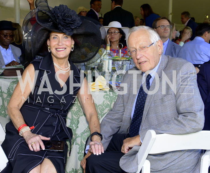 Barbara and Hurst Groves,  NSLM 2019 Polo Classic Great Meadow Sep 15 2019 Photo by Nancy Milburn Kleck