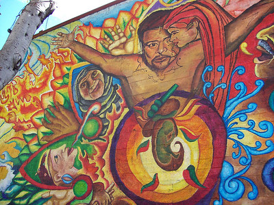 Mr. Broxton's visit to Mission Murals