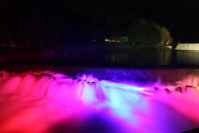 Rheidol Coloured Waterfall