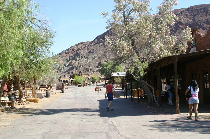The main street through the town.