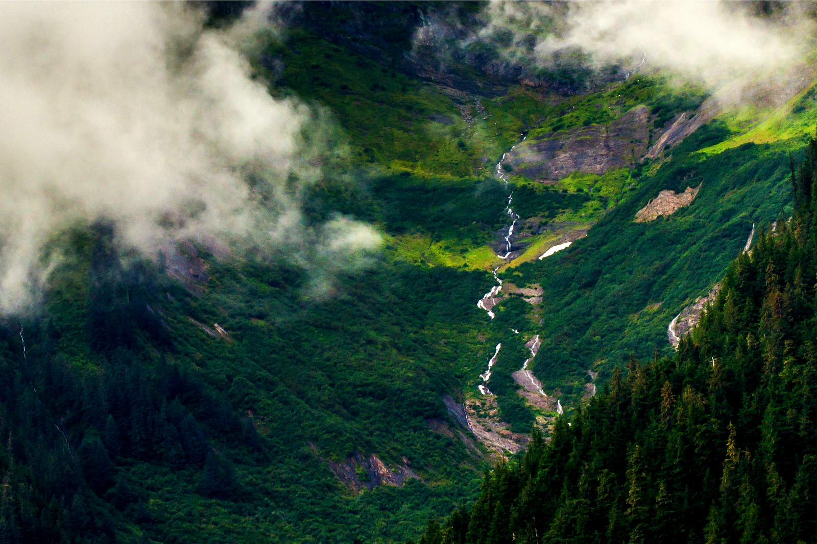 阿拉斯加,高山下的朦胧