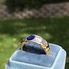 1.55ctw Old Mine Cut and Sapphire Gypsy Ring, GIA 25
