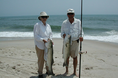Mac and Betty Simpson.....it was a great day everyone got their limit but think Betty had four.