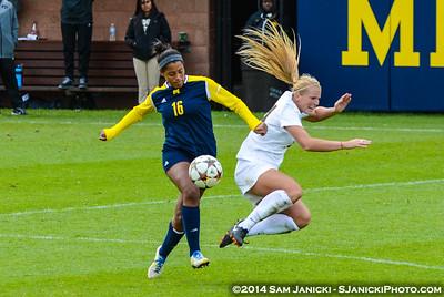 Best of UM Women's Soccer Vs Iowa 10-5-14
