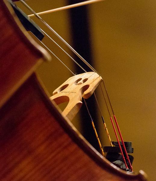 Cello bridge in action