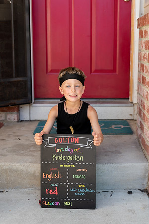 Colton's last day of Kindergarten