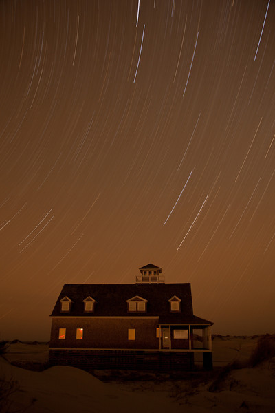Lifesaving Station and Star Trails