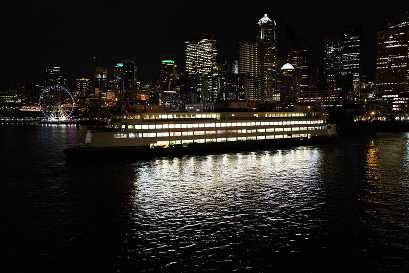 Ferry on the downtown Seattle waterfront