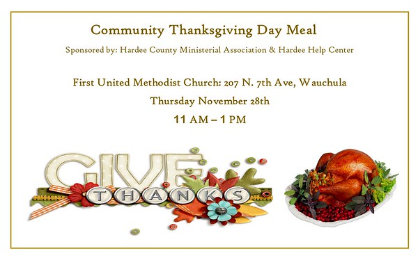 2019 Community Thanksgiving Meal