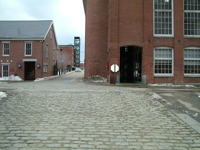 view from inside Boott Mills courtyard - Lowell, MA