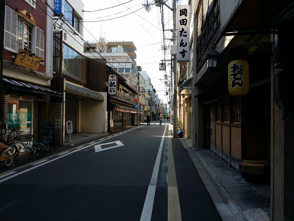 Ebisu-gawa Street in winter