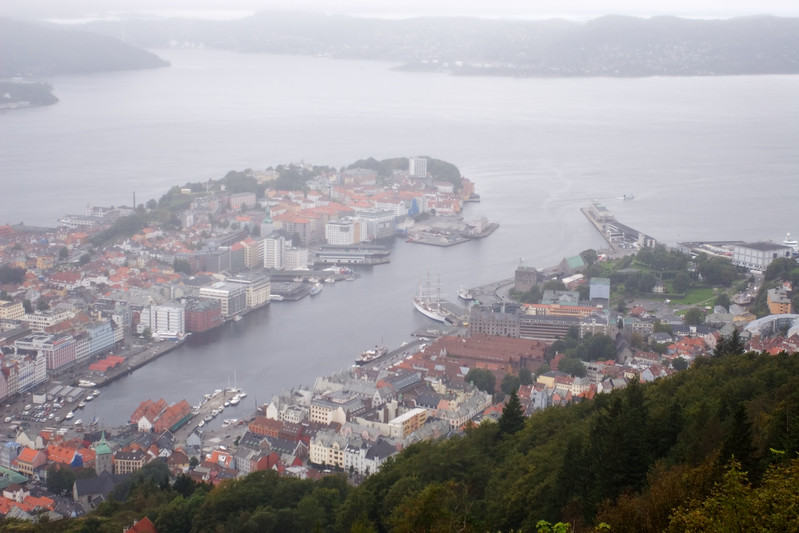 View over Bergen.