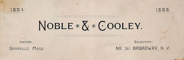 1888 Noble & Cooley Catalog