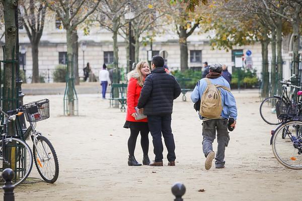 Joshuas perfect surprise proposal, Paris.