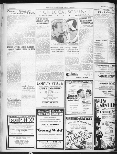 Daily Trojan, Vol. 22, No. 74, January 15, 1931