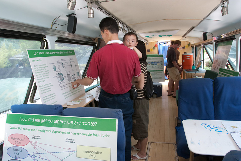There are lots of informational displays traveling with the BGB.