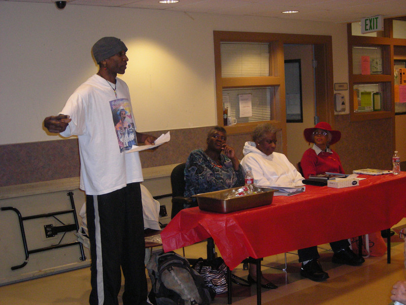 African American Writer's Alliance reads at Angeline's