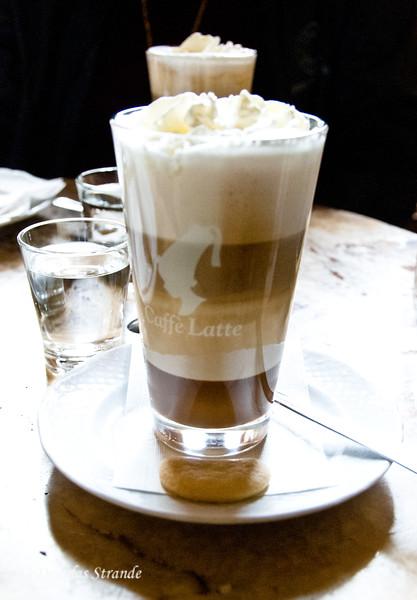 At Gerbeaud:  Caramel, Milk, Coffee, Whipped Cream