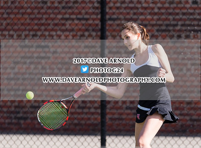 4/13/2017 - Girls Varsity Tennis - Wellesley vs Needham