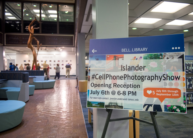 The second annual Islander Cell Phone Photography Show is now up for viewing in the Mary and Jeff Bell Library until September 15th.