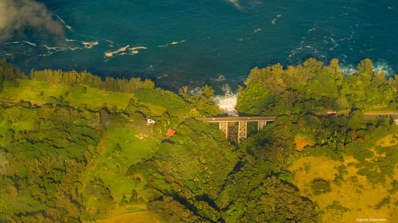 Aerial view of Big island,Hawaii